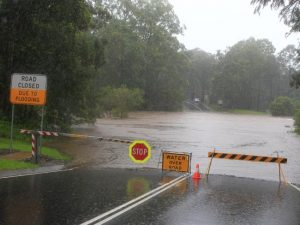 Bonogin road flooding gold coast cleanup emergency