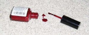 how to remove nail polish stain on carpet